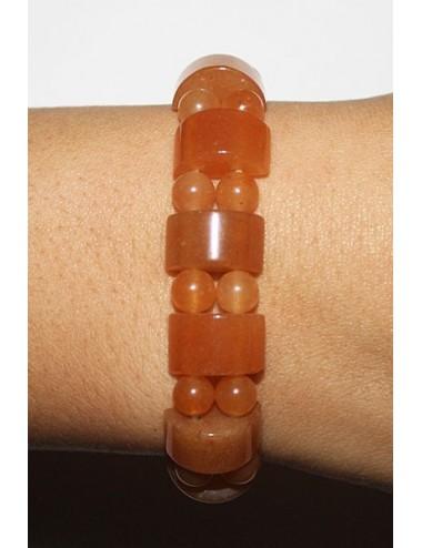 Bracelet 1/2 rond aventurine orange