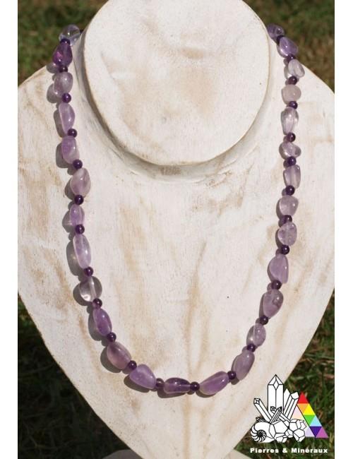 violet intense , collier améthyste création