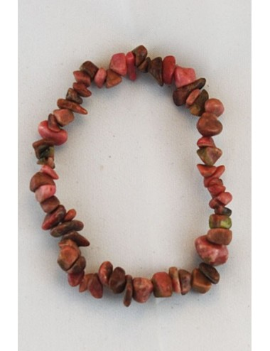 Bracelet rhodonite chips